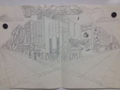 Two point perspective - Grade 8