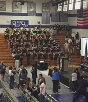 Band lighting it up at kickoff