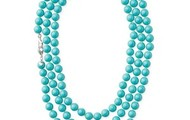La Coco Rope Necklace-Turquoise