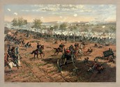 """ The Battle of Gettysburg"" by John Sartain"
