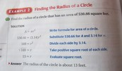 how to find the 'radius of a circle'