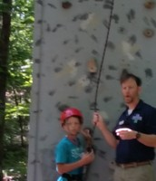 Gavin is ready to climb!