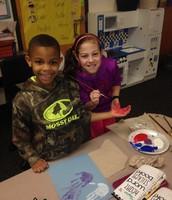 Addy mentoring in the Kindergarten classroom