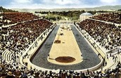 The first olympics was held in this stadium.