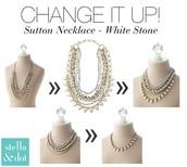 Sutton White Stone $115 (Reg. $188)