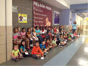 Students showing P.R.I.D.E. at Nelson