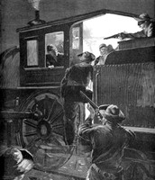 This is Jesse James robbing a train with his fellow partners