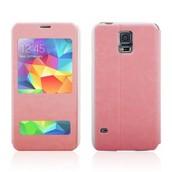 Chegada nova dupla Abrir Case Capa Janela flip para Samsung GALAXY S5