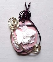Cameo Butterfly Pendant