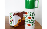 Hedgehogs Thermos Flask and tin lunch box