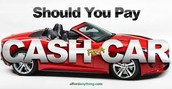 Pay cash for a car