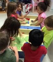 Sensory fun! Playing with slime