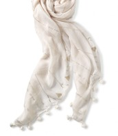 Westwood Tassel Scarf - Winter White/Metallic $59