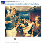 C-SPAN Classroom Bus at Anderson HS