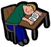 No duermes en la clase.