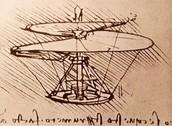 Da Vinci's helicopter model