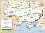 Major cities Map of Ukraine