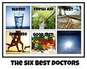 The 6 components of Overall Health.
