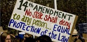 What right does the 14th Amendment give to citizens?