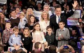 The Romney family at a speach