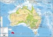 Map of Austrailia