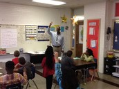 Mr. Williams models think time in 3rd grade.