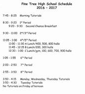 16-17 Bell Schedule