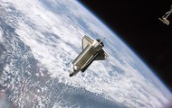 The Atlantis Shuttle In Space