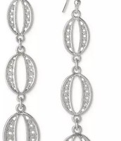 Kimberly Drop Earrings, Silver