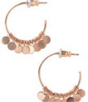 Small Fringe Hoop Earrings -- Gold
