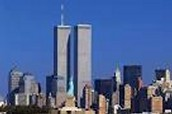 These are the Twin Towers before 9-11 happened. It was peaceful when there was not a plane crash and the building was not on fire. Ahhh paradise