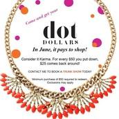 Dot Dollar Redemption!