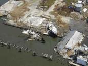 Destruction after Hurricane Katrina