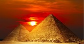 This is an Egyptian pyramid