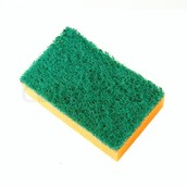 The sponge you used to clean the dishes is now on the table.