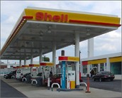 A Shell Gas Station with a Hydrogen Fuel Pump.