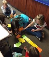 Working together on a Sacajawea timeline