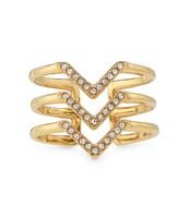Pave Chevron Ring - Gold