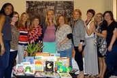 Book Club Baby shower for Past President Lauren!
