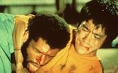 Bruce Lee famous fight scene with Lakers Kareem Abdul Jabar.