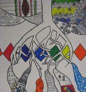 Landscape Zentangle/Line Drawing