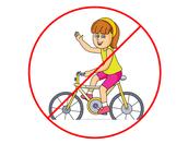 No Montar En Bicicleta