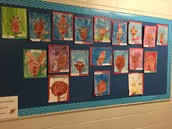 Reindeer Watercolour Paintings by Mrs. Kirschner's Gr. 1/2 Class