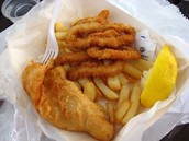 Popular fast food- Fish and Chips!!! Yummy!!!