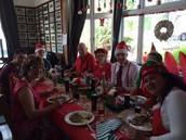 Staff enjoying Christmas dinner