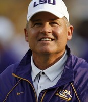 Les Miles Head Coach of the LSU Tigers