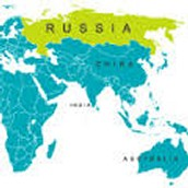 Russias landmass