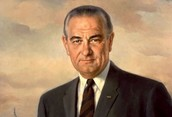 Lyndon B. Johnson, President that made the great law effective.