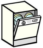 Dishwasher running