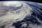 hurrican picture from outer space